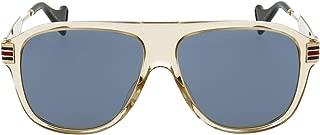 Luxury Fashion | Gucci Womens GG0587S004 Beige Sunglasses | Fall Winter 19