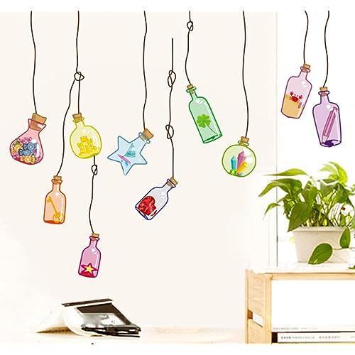 Decals Design 'Beautiful Wall Drift Bottles' Wall Sticker (PVC Vinyl, 45 cm x 60 cm)