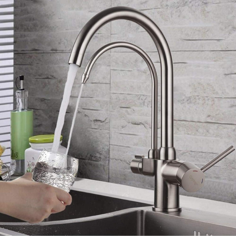 Lddpl Kitchen Faucet with Filtered Water Brass Kitchen Sink Faucet Water Faucet Filter Water Mixer Crane Kitchen Tap Mixer