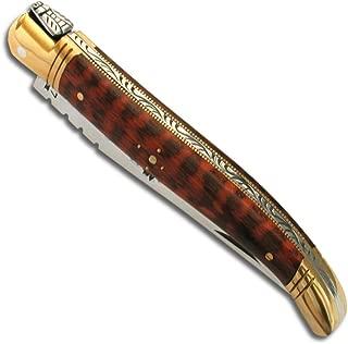 Laguiole Actiforge - Cuchillo con mango de madera de piel de serpiente, 11 cm
