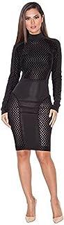 فستان ضيق ضيق ضيق للنساء من BUETYART فستان مثير للحفلات متوسط الطول