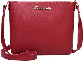 Wultia - Bags for Women 2019 Women Fashion Solid Color Messenger Bag Female Bag Phone Coin Bag Bolsa Feminina #M09 RED