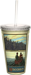 Tree-Free Greetings cc33295 Scenic Wisconsin Canoeing by Paul A. Lanquist Artful Traveler Double-Walled Cool Cup with Reus...