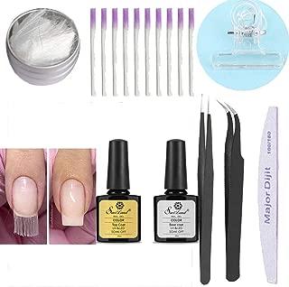 Kit de gel de extensión de fibra de vidrio, Anself Nail Nails Herramienta de salón de uñas de acrílico de vidrio Kit de gel de uñas de extensión de fibra de vidrio Base Coat Gel Nail Polish UV(#3)