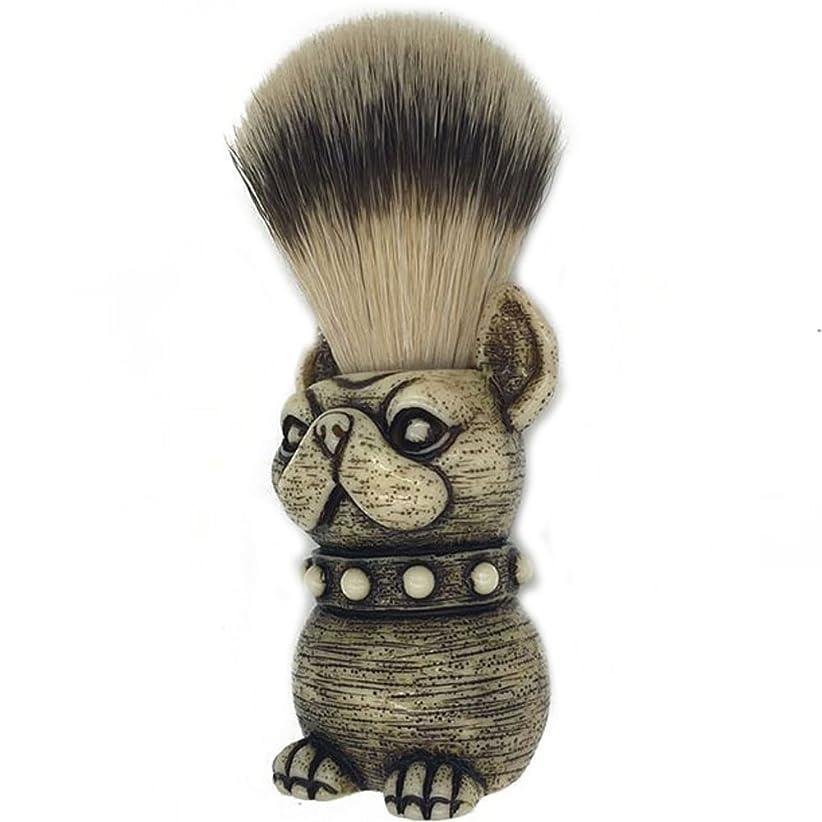 男性メンズ用 アナグマ毛 ひげブラシ髭剃り アナグマ毛ブラシ ギフト泡立ち 洗顔ブラシ (犬)