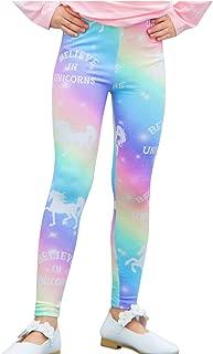 Girls Unicorn/Llama Rainbow Leggings Tights Trousers Stretch Leggings Pants for Kids