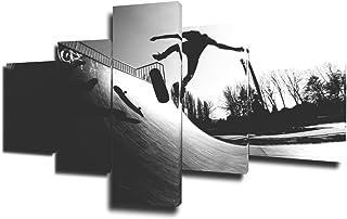 TUMOVO 5 Piece Surfing Pictures, Artwork-11, 50''W x 24''H