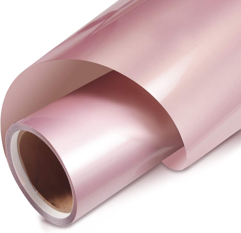 Rose Max 44% OFF Arlington Mall Gold Vinyl Heat Transfer Iron 12 on HTV In Roll