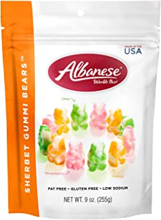 Albanese World's Best, Sherbet Gummi Bears, 9 oz