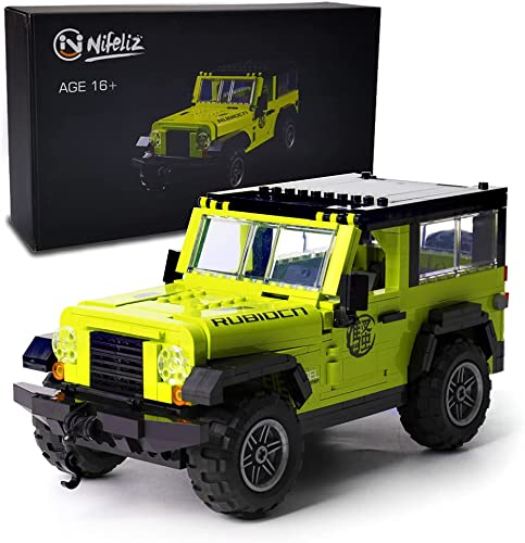Nifeliz Off-Road Pickup Wrange MOC Building Blocks and Construction Toy, Adult Collectible Model Cars Set to Build, 1:14 Scale Sports Car Model (612 Pcs)