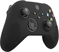 Insten Controller Grip Case Compatible with Xbox Series X/S, Protective Silicone Cover, Anti-Slip, Black