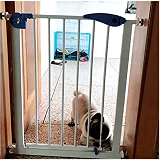 LELEGuardrail Baby Pet Safety Gates With Door Extra Wide Foldable Dual Lock Pressure Mount Fence Free Punching For Play Area Staircase Fireplace  Color High76 Width  Size 155-162cm