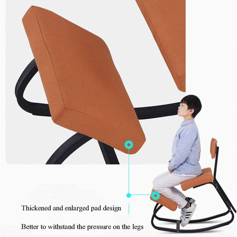 Chaise de Correction À Genoux, Bureau et Maison, Correction de La Posture Dossier de Tabouret de Fer, Armature en Métal Éponge Haute Élasticité Gray