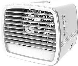 Mini Air Cooler Air Conditioner Fan Draagbare Airconditioner Mini Airconditioning met Handvat, LED nachtlampje, voor reize...