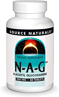 Source Naturals N-A-G 250 mg N-Acetyl Glucosamine for Joint Support and Intestinal Lining - 60 Tablets