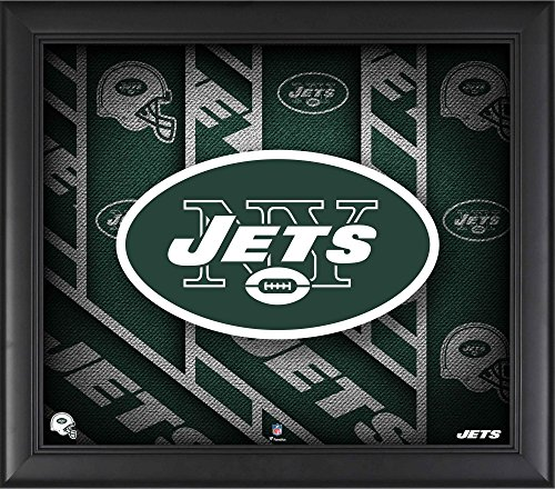 """New York Jets Framed 15"""" x 17"""" Team Threads Collage - NFL Team Plaques and Collages"""