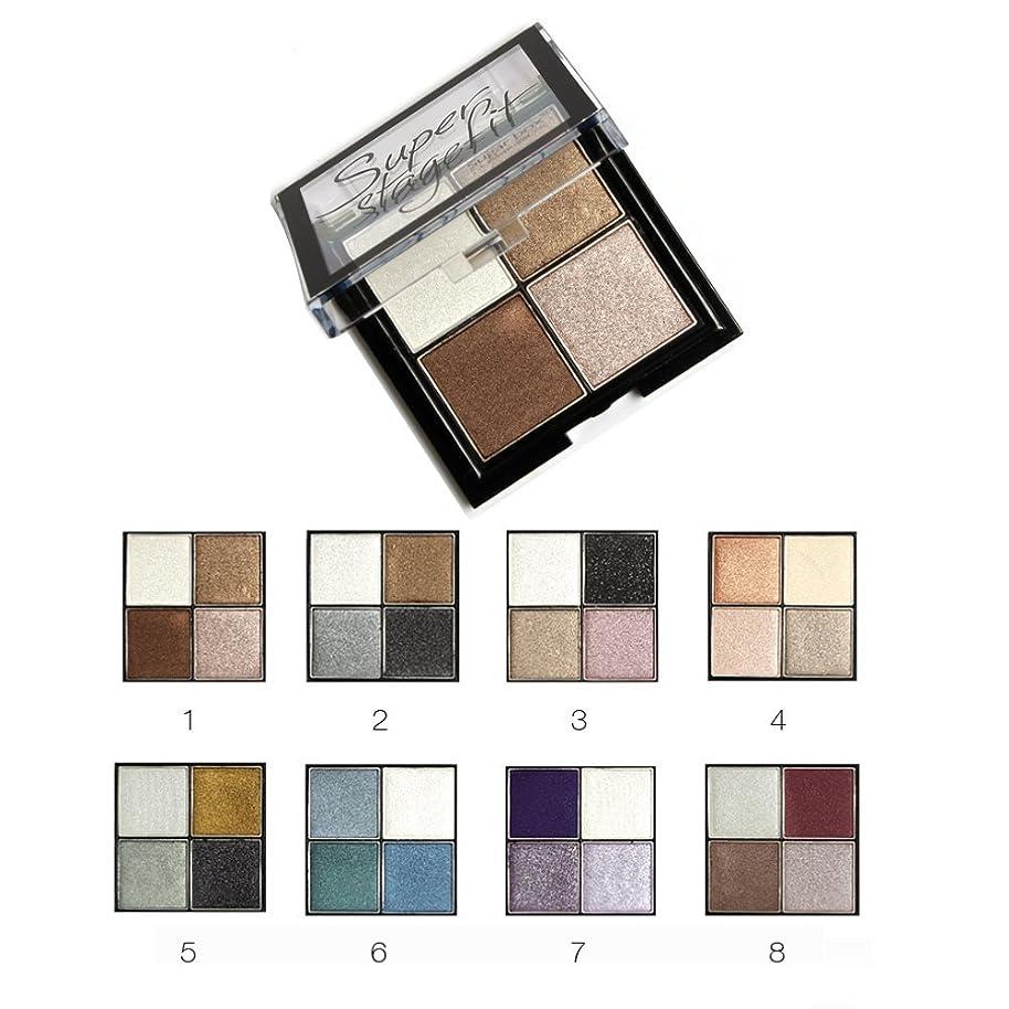MakeupAcc アイシャドウパレット 4色 ブラシ?鏡付き 8シリーズオプション ラメ マット  (01) [並行輸入品]