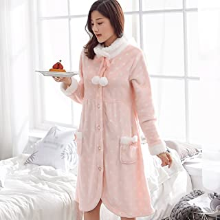 GAOLILI 冬のゆるい厚いパジャマレディープラスロングスリープローブホーム衣類バスローブ