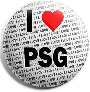 Grand pin's I Love PSG - 75 mm - Cadeau d'anniversaire, Noël