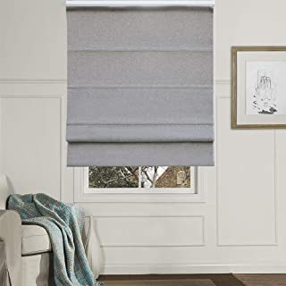 Artdix Roman Shades Blinds Window Shades - Grey 47.5 W x 36L Inches (1 Piece) Blackout Solid Thermal Fabric Custom Made Roman Shades for Windows, Doors, Home, Kitchen, Living Room