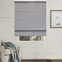 Artdix Roman Shades Blinds Window Shades - Grey 38 W x 48L Inches (1 Piece) Blackout Solid Thermal Fabric Custom Made Roman Shades for Windows, Doors, Home, Kitchen, Living Room