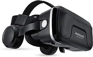 Casque VR, HAMSWAN Lunettes 3D Réalité Virtuelle avec Casque Intégré pour iPhone, Samsung et Autres Smartphone (4.0 à 6.0 ...