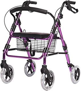 DHINGM Old Trolley Shopping Cart, EVA Eco-Friendly Sponge Back, Rotary Adjuster, Three-Speed Armrest Height Adjustable, Double Brake System, Two Brakes, User-Friendly Design, Multiple Security