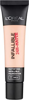 L'Oreal Paris Infallible 24H Matte Foundation 11 Vanilla, 35ml