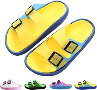 Techcity Women/Men's Comfort Slide Sandal Lightweight Slip On Non-Slip Beach Pool Bathroom Slippers Water Shoes,10% coupon applied.,with coupon (some sizes/colors)
