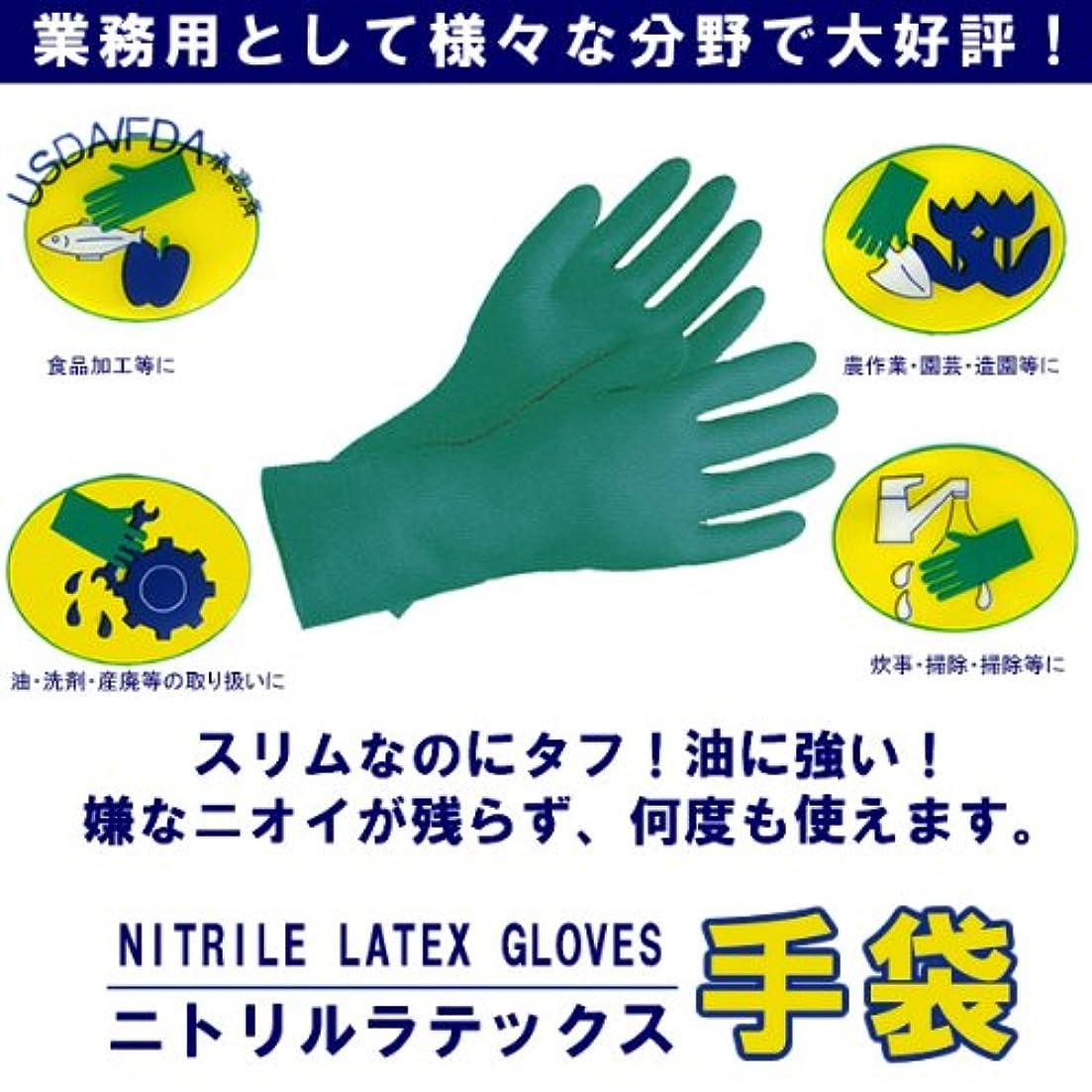 生じる浜辺盲目ニトリルラテックス手袋 Mサイズ