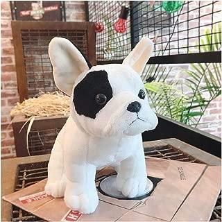 PAPPET Bulldog Stuffed Animal 1Pc French Bulldog Plush Toy Cute Soft Dog Doll for Kids Birthday Christmas Valentines Gift White (10.63 inch)