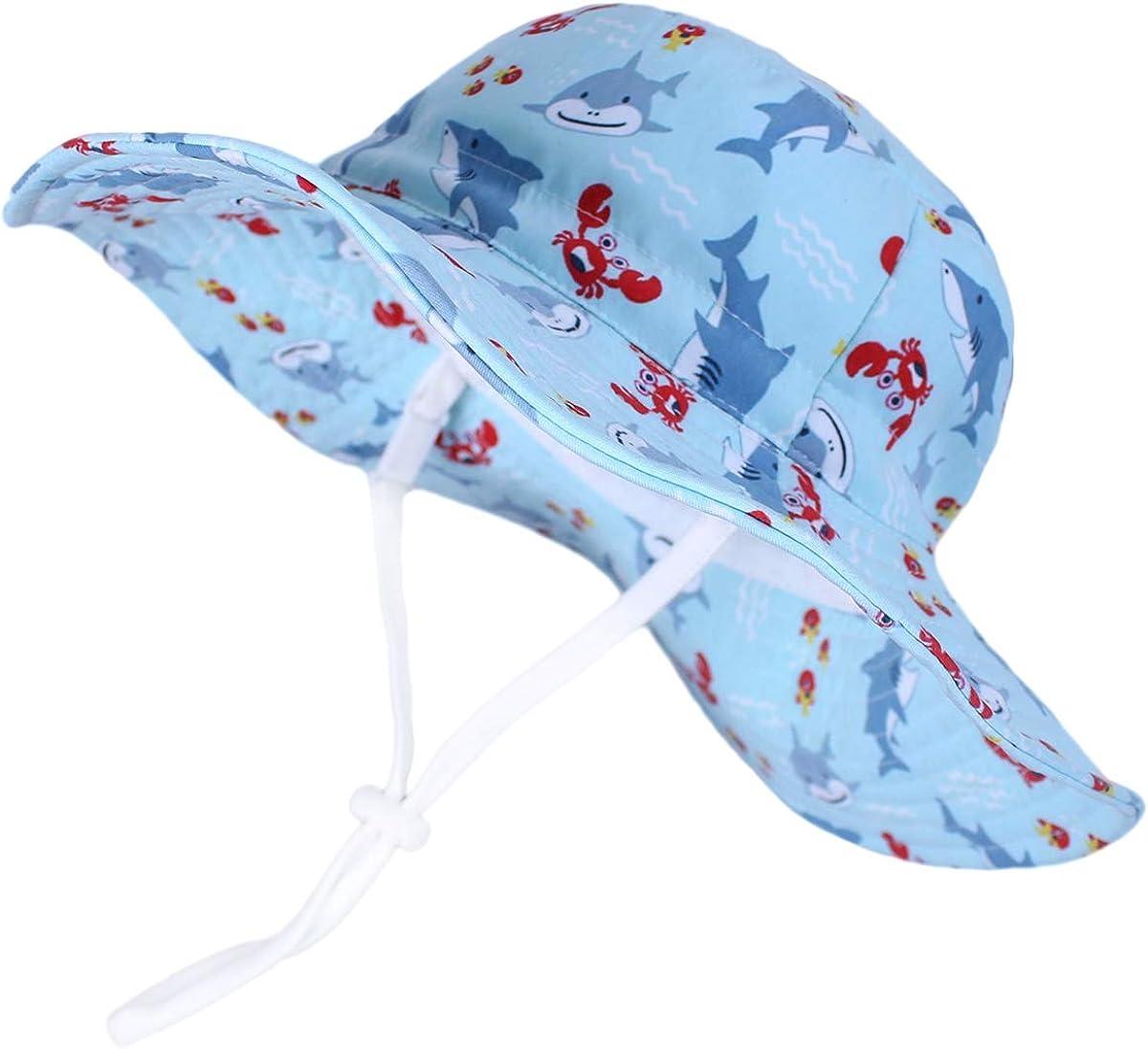LLmoway Baby Kid Sun Protection Hat Wide Brim Cotton Bucket Hat Boys Girls 6M-8T