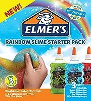 Elmer's Glue-All Multi-Purpose Liquid Glue Slime Starter Kit Bundle Rainbow