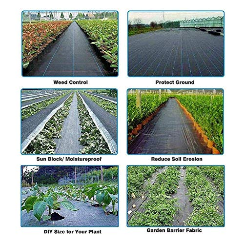 ytrew Landscape Ground Cover, Garden Landscape Fabric, Heavy PP Woven Weed Barrier, Soil Erosion Control And UV Stabilized, Plastic Mulch Weed Block, Perfect For Greenhouse, Flower Bed, Garden