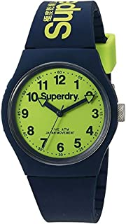 Superdry Men's QuartzUrban Men's Analog Quartz Watch with Blue Silicone Strap Analog Display and Silicone Strap, SYG164UN