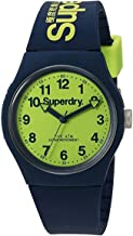 Superdry 'Urban' Quartz Plastic and Silicone Dress Watch, Color:Blue (Model: SYG164UN)