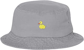 Adult Yellow Duck Embroidered Bucket Cap Dad Hat