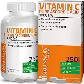 Vitamin C 1000 mg Premium Non-GMO Ascorbic Acid - Maintains Healthy Immune System, Supports Antioxidant Protection - 250 T...