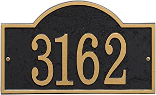 Whitehall Personalized Cast Metal Address Plaque - Custom House Number Sign - Arched Rectangle (12