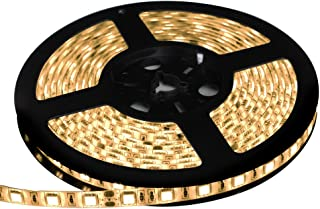 LEDテープライト 24V 防水 両端子 5メートル 3チップ (電球色/白ベース)