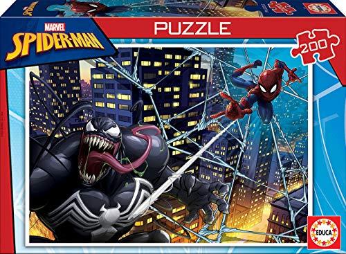 Educa Spider-Man, Puzzle infantil de 200 piezas, a partir de