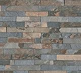 A.S. Création Vliestapete Best of Wood`n Stone 2nd Edition Tapete in Stein Optik fotorealistische Steintapete Naturstein 10,05 m x 0,53 m braun grau schwarz Made in Germany 355823 35582-3