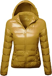 Made by Emma Women's Lightweight Solid Basic Outdoor Sports Quilted Puffer Jacket
