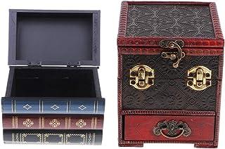 SM SunniMix Boite /à Bijoux Coffret /à Bijoux R/étro en Forme de T/êtes de Mort en R/ésine pour Stockage Boucles doreilles Bagues Colliers 8x5.5x7.5cm