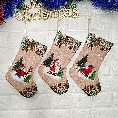 Kerstdecoratie items tassen Kerstmis sokken gift tassen bedrukte trompet merk: TONWIN