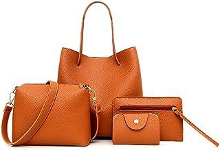 أربع مجموعة حقيبة يد حقائب كتف أربع قطع حقيبة حمل كروسبودي محفظة