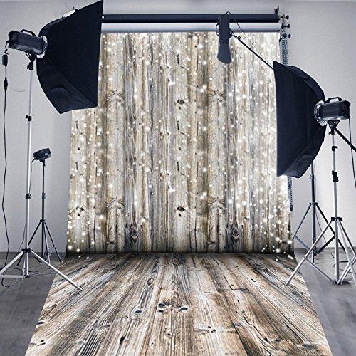 Hua 5x 10ft madera pared con suelo de madera telón de fondo Fotografía fondo d-2389