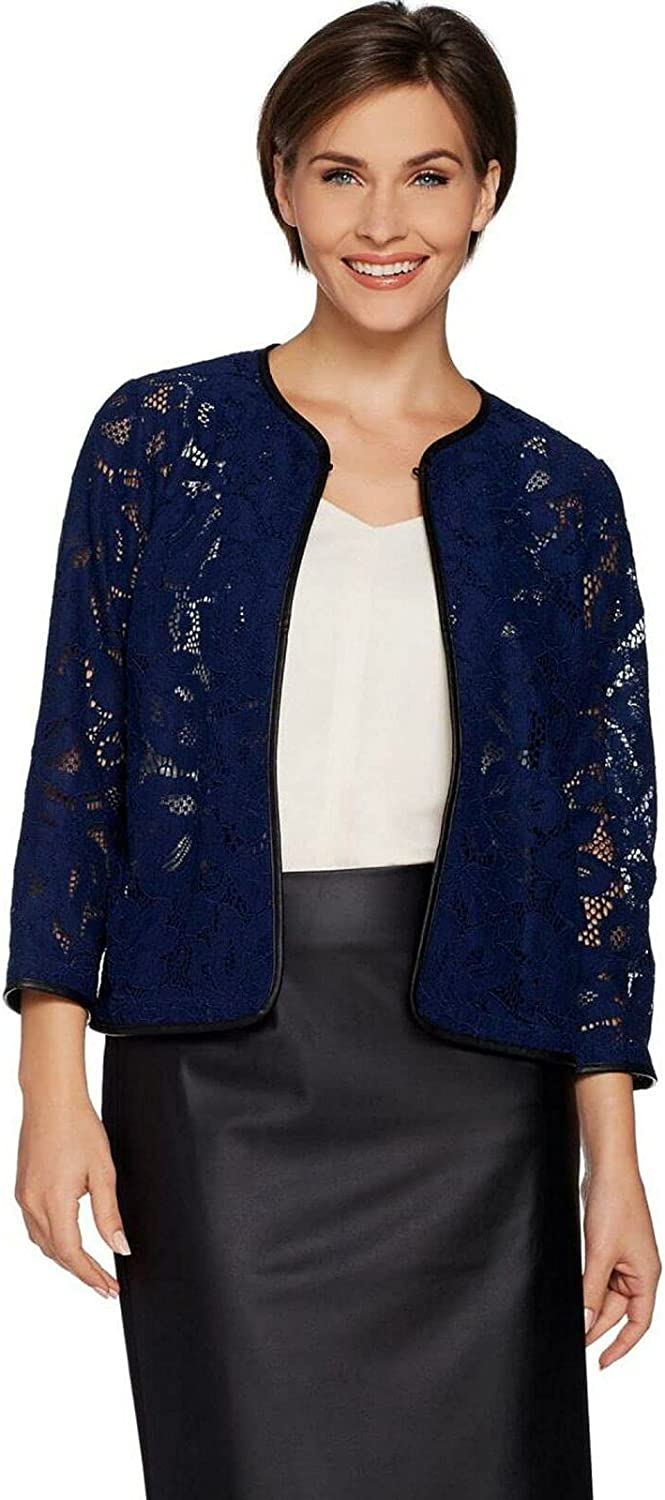 Max 81% OFF Joan Rivers Women's Who Are You Faux Trim Regular store J Wearing Lace Leather