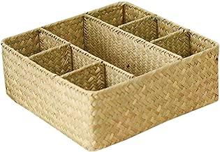 [Style 1] Wicker Straw Basket Storage Box Household Basket
