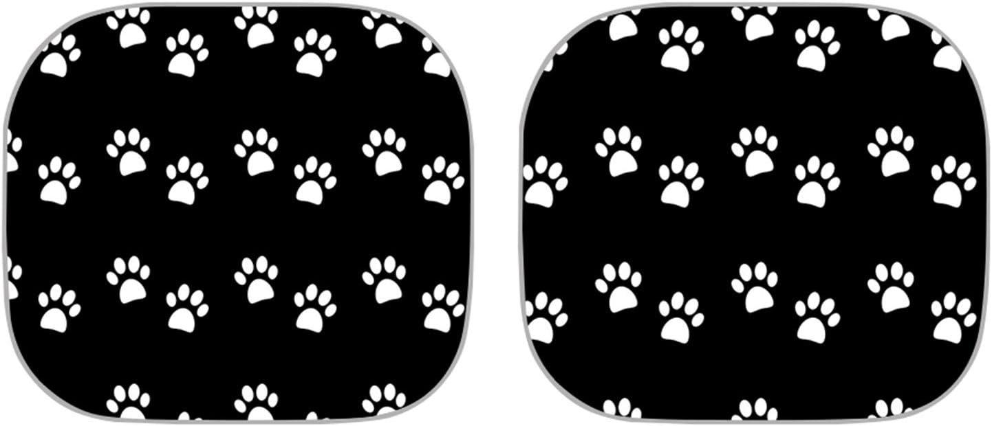 Belidome Black Dog Paw Print Car Popular overseas Dallas Mall Inte Windshiel Protect Sunshade